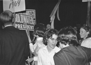 Students at mock GOP convention in 1964