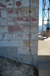 Foudation marker of lookout station at top of Sierra Buttes in Tahoe NF-01 10-2-12 | by lamsongf