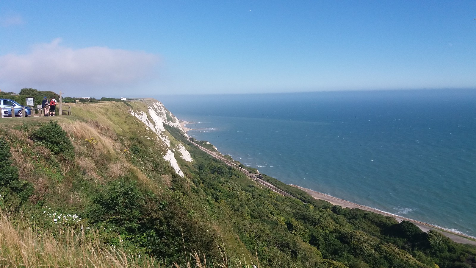 20160812_162834 View down over Folkestone Warren