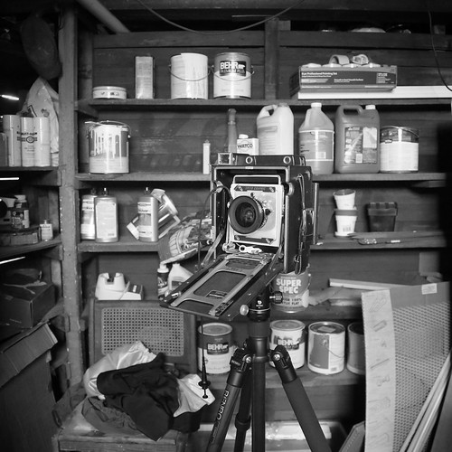 Busy morning in a rustic New England basement. #largeformat #4x5 #photoshoot #basement #boston #newengland #massachusetts #bw #rustic | by lotophotos