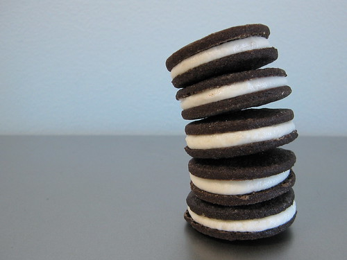 chocolate cream-filled sandwich cookies | by Plains Joy