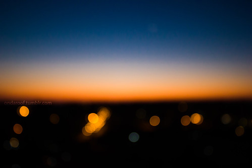 blue sky sunrise dawn bokeh