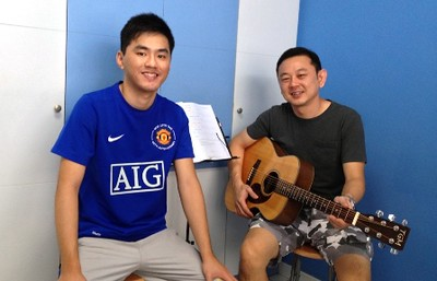 1 to 1 guitar lessons Singapore Zac