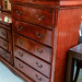 Tall mahogany 5 high chest of drawers