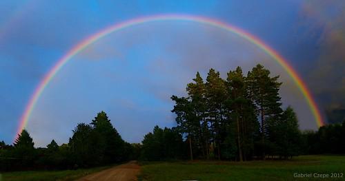 rainbow poland soe podlasie suwalszczyzna handheldpanorama upustek