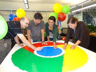 5 ft LEGO Google Chrome Logo
