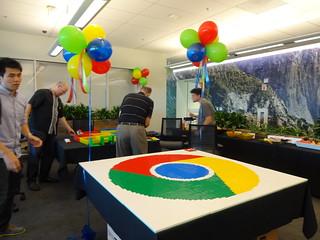 LEGO Google Chrome Logo Building Event