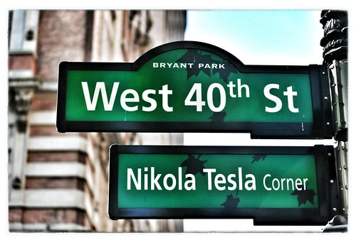 Nikola Tesla Corner in New York City | by warriorwoman531