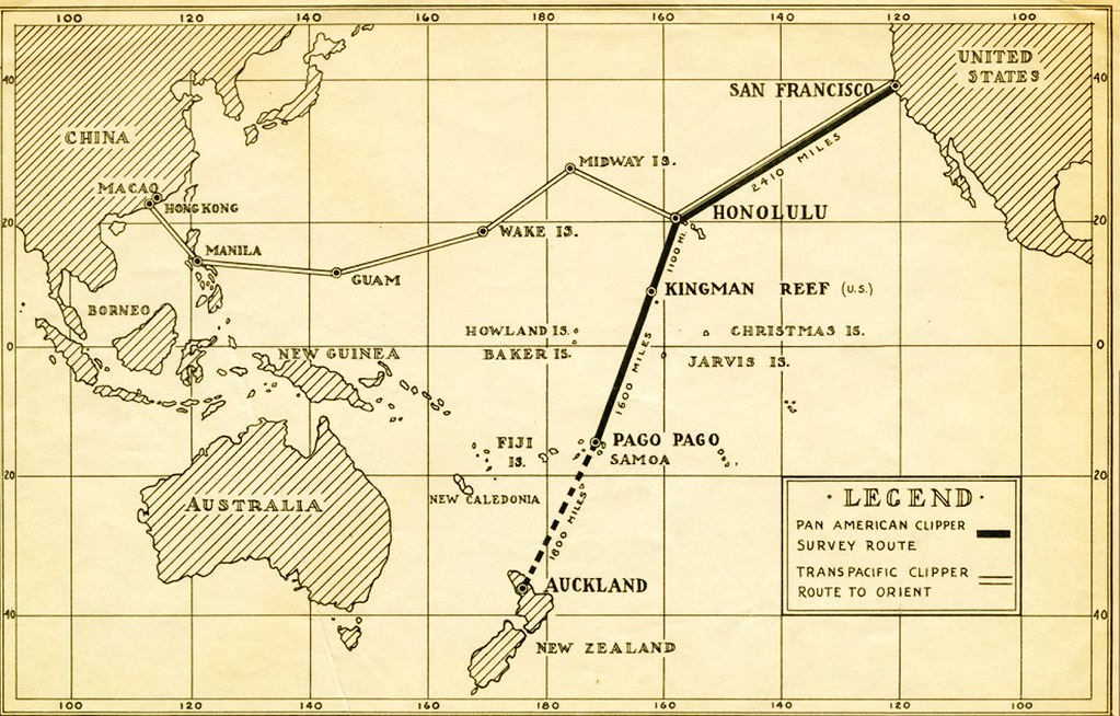 Pan American Airways Route System Map, circa 1936 | San Fran… | Flickr