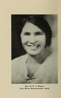 Mrs. M.E.V. Hunter and coach H.B. Hucles