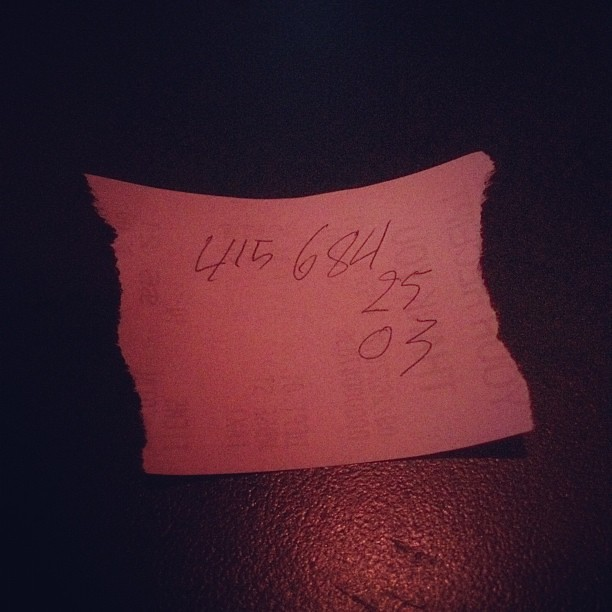 Thank you random guy for your phone number  Expect creepy … | Flickr