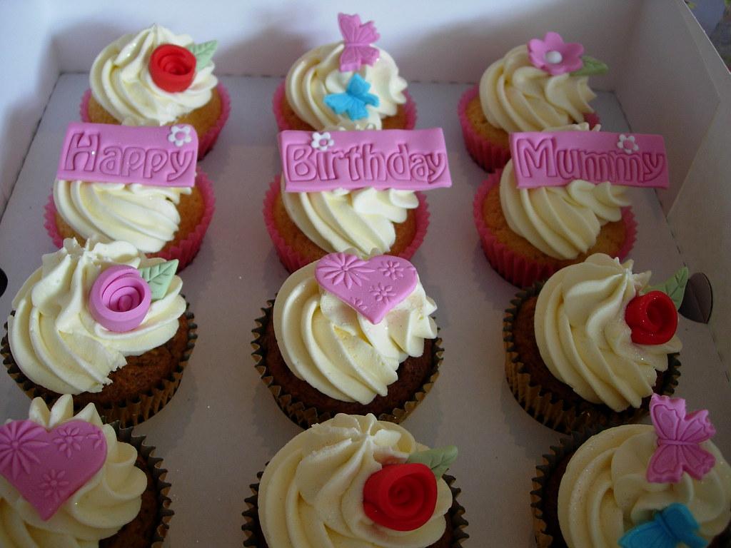 Pleasant Happy Birthday Mummy Cupcakes Fantasy Cupcakes Flickr Funny Birthday Cards Online Eattedamsfinfo