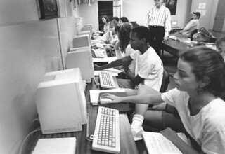 The Psychology Computer Lab in Mason Hall in 1991