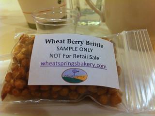 Wheat Berry Brittle from wheat springs bakery | by jenarrr