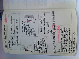 My sketchnotes from today's #uxaustralia workshop with @steveportigal | by overlobe
