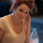 Rachael Stirling in Medea Rehearsals