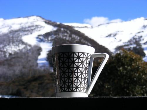 mountain snow ski coffee landscape skiing australia thredbo
