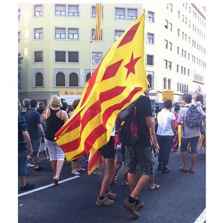 11 S 2012. Carrer Aragó anant a la manifestació. Sense filtres ni ajustos.