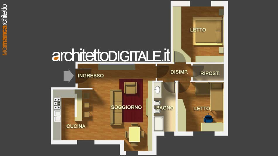 Progettazione Di Interni On Line : Progetto di interni di un appartamento di mq pianta au flickr