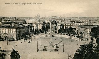 Rome - Piazza del Popolo (Old Postcard)