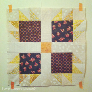 Far Flung Bee block for Essie | by Two Cheese Please