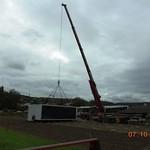 am 7. und 8. Oktober 2015 werden die Container gestellt