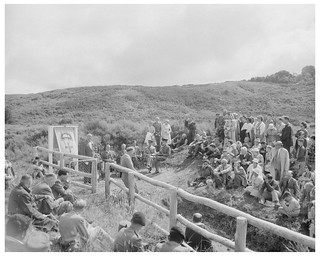 Unveiling of a commemorative plaque at Te Pōrere, 18 February 1961