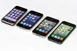 Four Generations of iPhone: Original + 3G + 4 + 5 | by Yutaka Tsutano