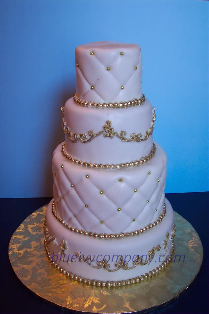White Gold Cake Wedding Cake That I Had To Send