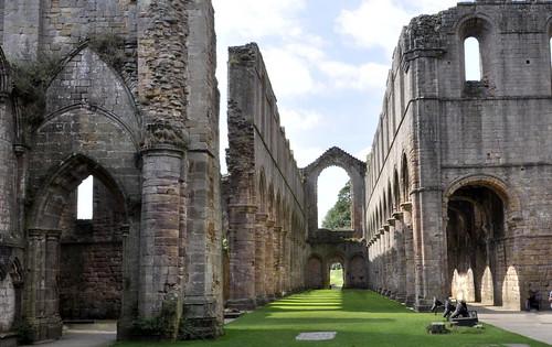 abbey fountainsabbey stone arches