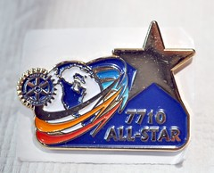 """This what the pin looks like....up close.  More about this at <a href=""""http://northraleighrotary.org/club-50th-anniversary-project-bridges-to-success/"""" rel=""""nofollow"""">northraleighrotary.org/club-50th-anniversary-project-brid...</a>  Photo Credit: Gene Hirsch"""