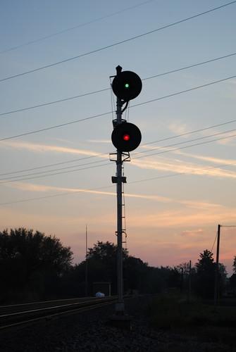 railroad ohio sunrise norfolk southern searchlight signal wabash blakeslee