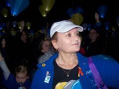 Chrissy Ambrose fundraising  for CML on Light the Night  (Australia)