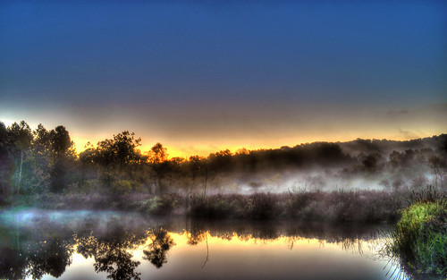 longexposure sky water fog sunrise warm beaverdam