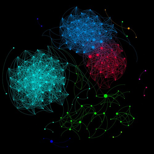Facebook Network Visualized with Gephi | by yaph
