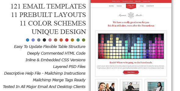 Dynamic Emailer Premium Email Newsletter templates come wi… | Flickr