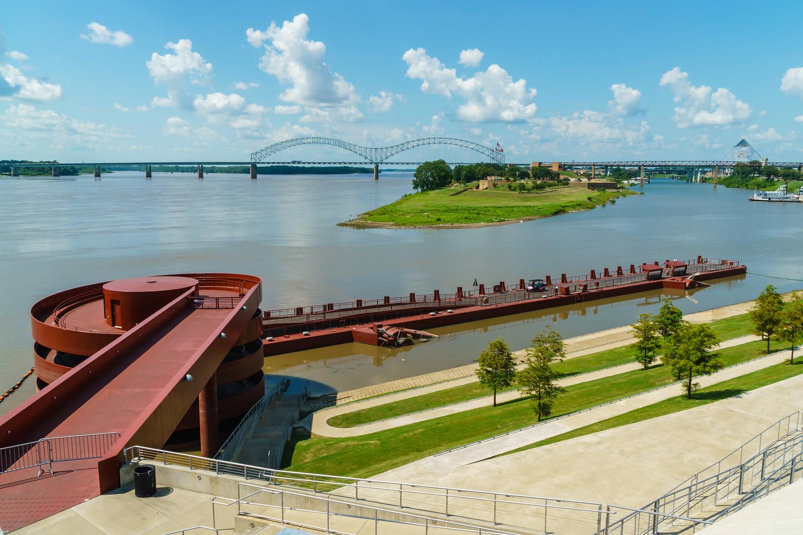 Mississippi River from Tom Lee Park, Memphis, TN