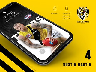 #4 Dustin Martin (Richmond Tigers) iPhone Wallpapers | by Rob Masefield (masey.co)