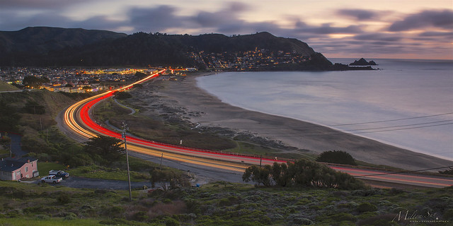 Three Curved Lines of Highway 1