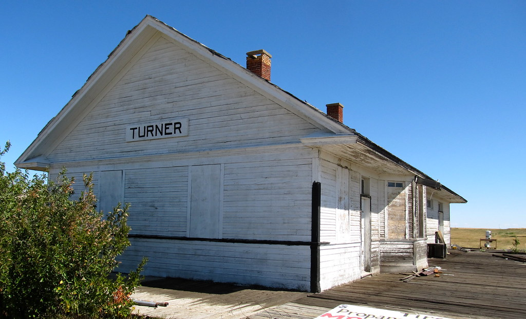 Great Northern Railway. Depot. Turner,Montana.