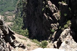 Ravin du Haut-Velacu : le haut du ravin de Velacu jusqu'au bloc coincé