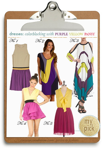 Colorblocking-by-Nature-Purple-Yellow-Dresses | by StarletStarlet