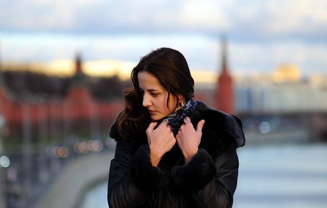 Portrait on a bridge, Moscow