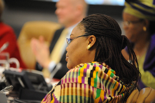 "Nobel Peace Laureate Leymah Gbowee  participates in the high-level event ""Preventing Sexual Violence and Gender-based Crimes in Conflict and Securing Justice for Survivors"" 