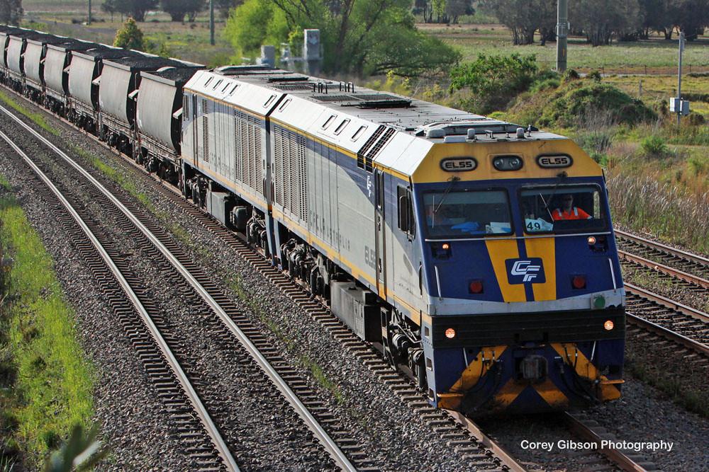EL55 & EL52 coal train at Tarro by Corey Gibson