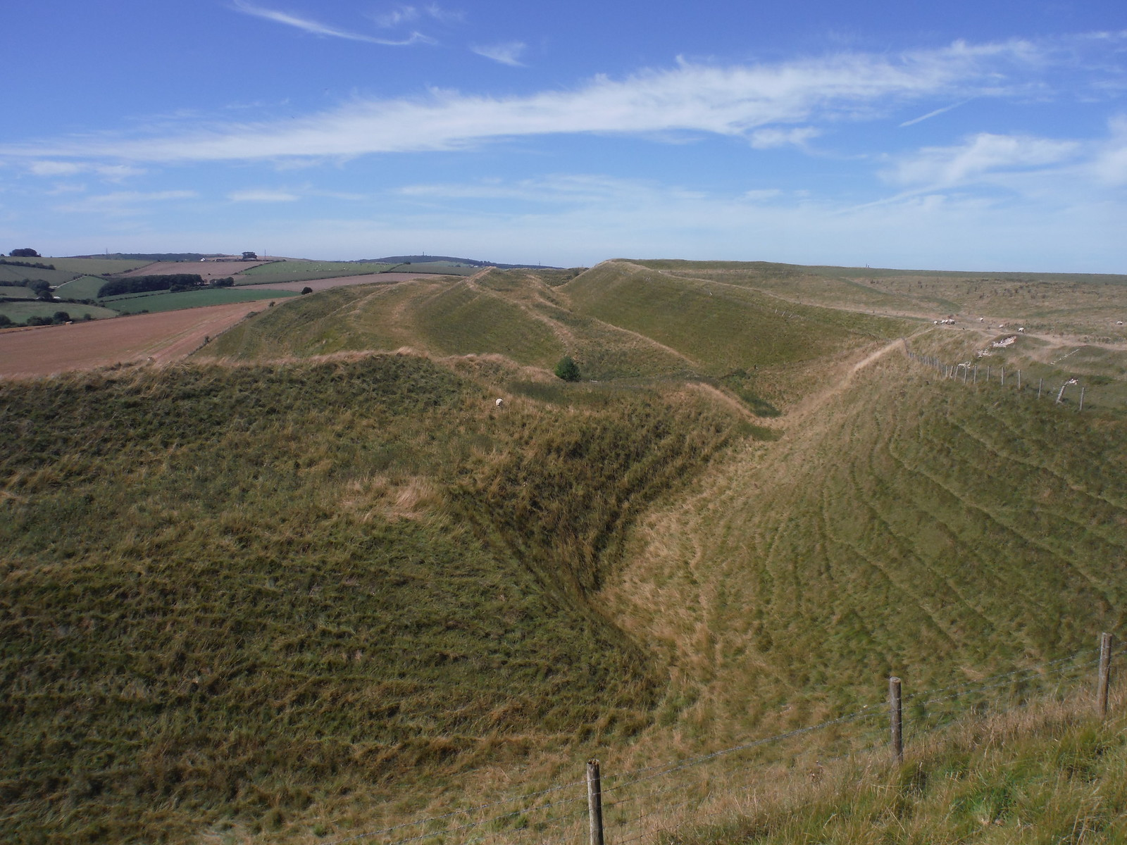 4 Banks and 3 Ditches: Maiden Castle Southerly Ramparts SWC Walk 275 Dorchester South Circular or to Portesham