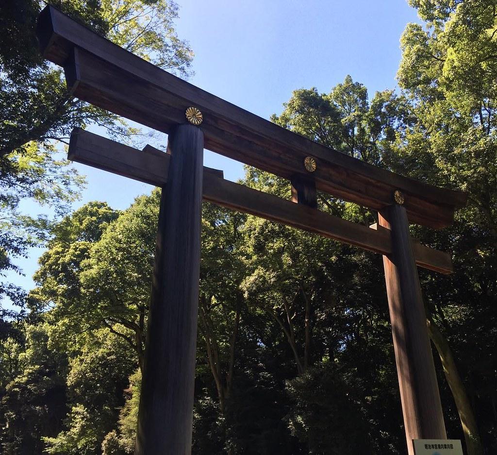Meiji Shrine in Shibuya, dedicated to the spirits of Emperor Meiji and his wife, Empress Shōken.