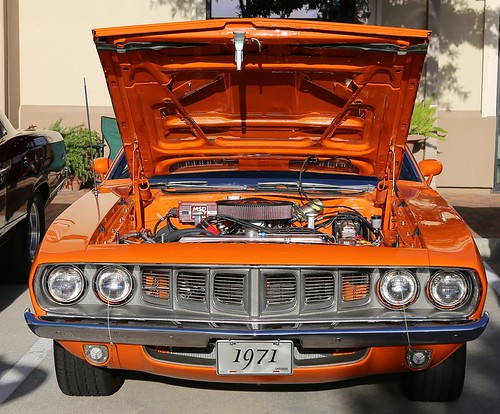 show park orange cars coffee car vintage 1971 spring texas view plymouth houston front 71 and mopar frontal cuda barracuda 2012