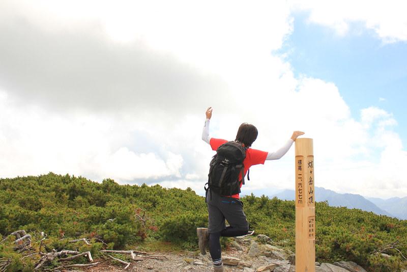 蝶ヶ岳 山頂