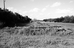Abandoned Railroad Right-of-Way between Fannett and Winnie, Texas 1209031746BW